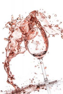 Plakat wina różowe