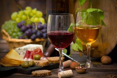 Plakat Wino i ser