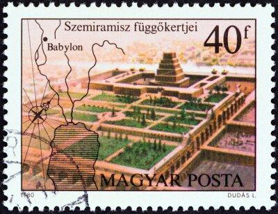 Plakat Wiszące Ogrody Babilonu (Węgry 1980)