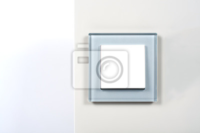 Cudowna Plakat włącznik światła z ramki srebra szkła na ścianie na wymiar SM83