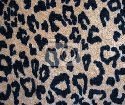 fda74a4d017b43 Plakat Włochatej skóry brązowy tła tkaniny pantery na wymiar • żółty ...