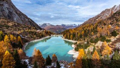 Plakat Włoski - Lesina Lake