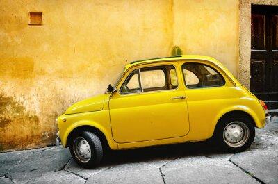 Plakat Włoski stary samochód