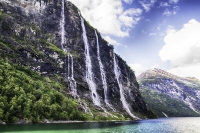 Plakat Wodospad fiord Geiranger