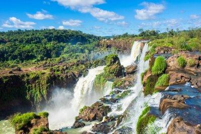 Plakat Wodospady Iguaçu, na granicy Argentyny, Brazylii, Paragwaju i