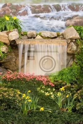 Plakat śliczne Małe Wodospady Ogrodowe Na Wymiar Projekt