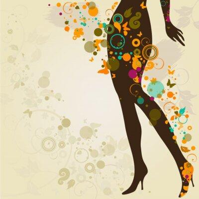 Plakat Woman `s szczupłe nogi