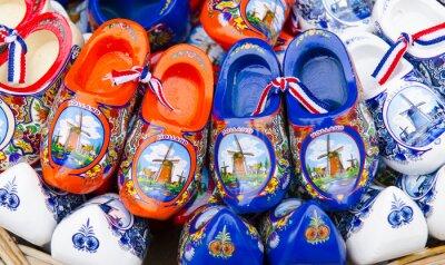 Plakat Wooden shoes as a souvenir, Holland.