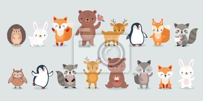 Plakat woodland characters
