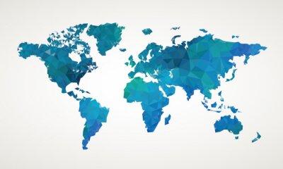 Plakat World map vector abstract illustration pattern