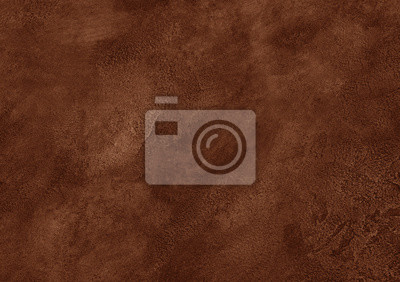 Plakat Worn brown marble or cracked concrete background (as an abstract brown vintage background)