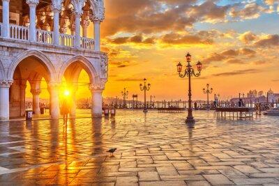 Plakat Wschód słońca w Wenecji