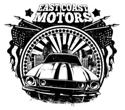 Plakat Wschodnie wybrzeże silniki