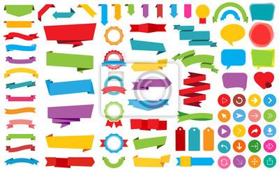 Plakat Wstążka Etykiety Naklejki Banery Vector