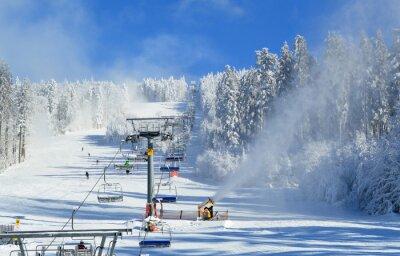 Plakat Wyciąg narciarski
