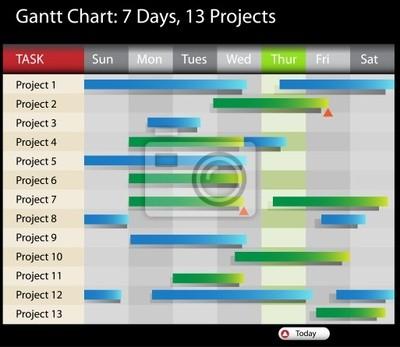 Plakat wykres gantta na wymiar czerwony cie ilustracja redro plakat wykres gantta ccuart Image collections
