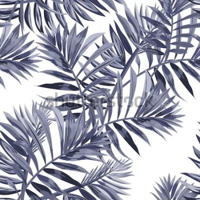 Plakat Wzór z tropikalnych liści.