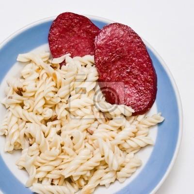 Макароны с вареной колбасой рецепты