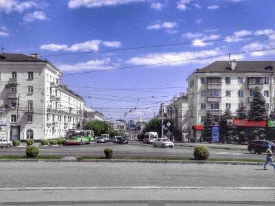 Брянск.Россия.ЧБ и цветное фото