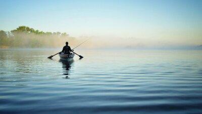 Plakat Рыбалка утром на речке