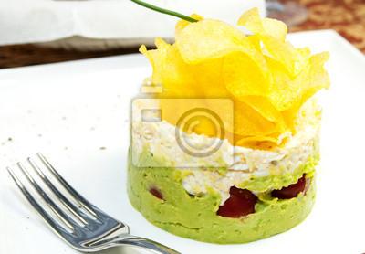 Цветное пюре с чипсами