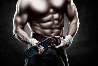 Plakat красивое мужское тело