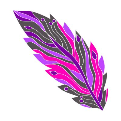цветное абстрактное перо