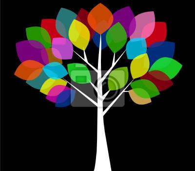 Волшебное цветное дерево