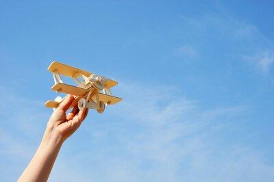 Plakat 飛行機 と 空