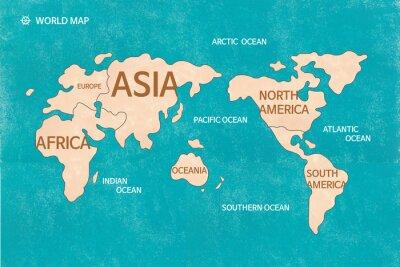 Plakat 세계 지도