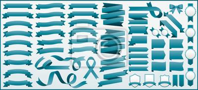 Plakat リボン素材セット 57 ribbons vector set