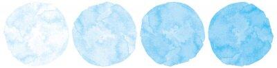 Plakat 水色水彩画絵具円形丸型筆跡テクスチャベクター滲み暈しイラスト素材
