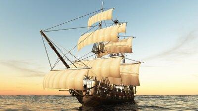 Plakat 帆船