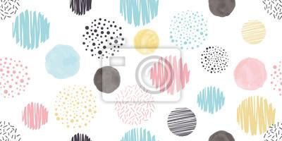 Plakat Cute geometric background. Seamless pattern.Vector. かわいい幾何学パターン