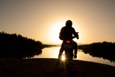 Plakat motorsiklet Ile Doğa turu