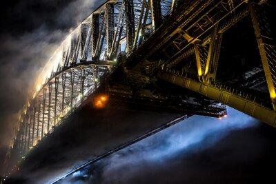 Plakat Sydney Harbour Bridge sylwestrowe fajerwerki シ ド ニ ー ハ ー バ ー ブ リ ッ ジ 大 晦 日 の 花火 大会
