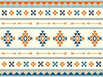 Plakat 南米風のネイティブパターンの背景素材