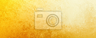 Plakat Yellow gold  background texture, old distressed vintage grunge in faded white spotlight design in upper corner and gradient hot bright color abstract textured design from dark to light