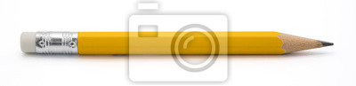 Plakat yellow pencil isoalted on white background with clipping path.