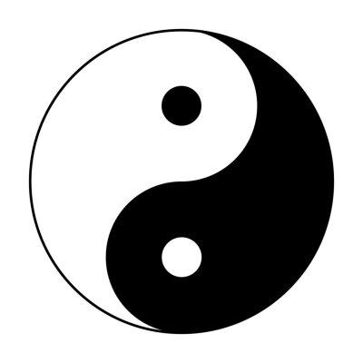 Plakat yin yang symbol