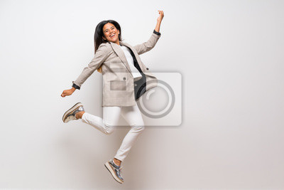 Plakat Young Colombian girl jumping