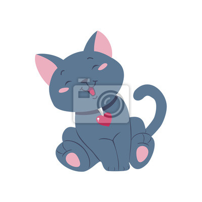 Zabawna cartoon ilustracji wektorowych kot