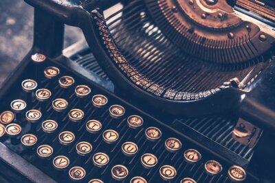 Plakat Zabytkowe maszyny do pisania