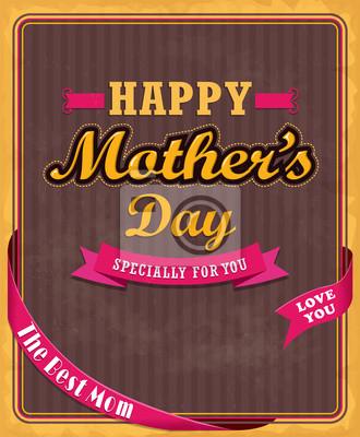 Zabytkowe projektowania plakatu dzień matki
