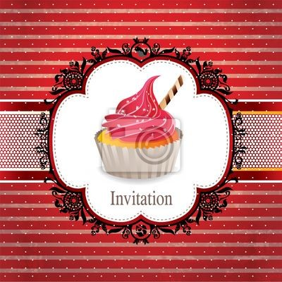 Plakat zabytkowe projektu Cupcake