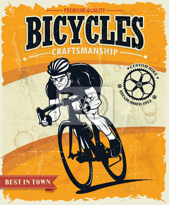 Zabytkowe rowery plakat projekt