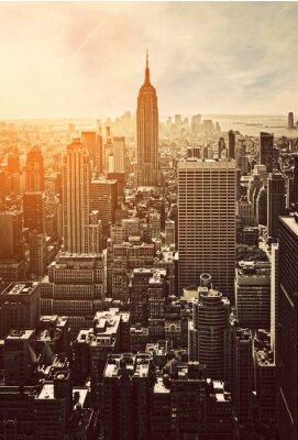 Plakat Zachód słońca na Manhattanie