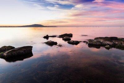 Plakat Zachód słońca na wybrzeżu Morza Czarnego