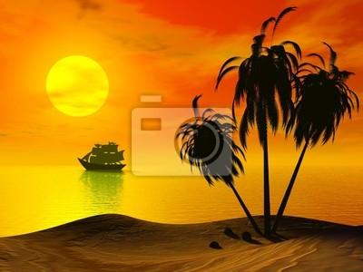 Zachód słońca Palm