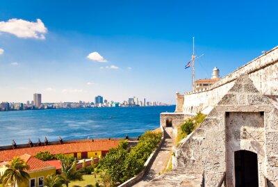 Plakat Zamek i latarnia morska El Morro w Hawanie